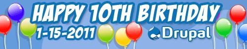 Happy tenth birthday