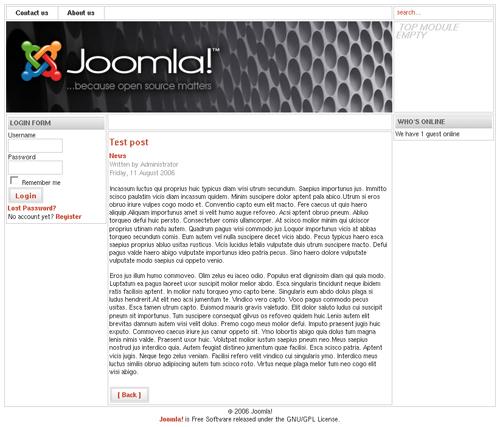Joomla post