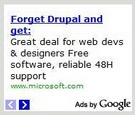 Microsoft anti drupal ad