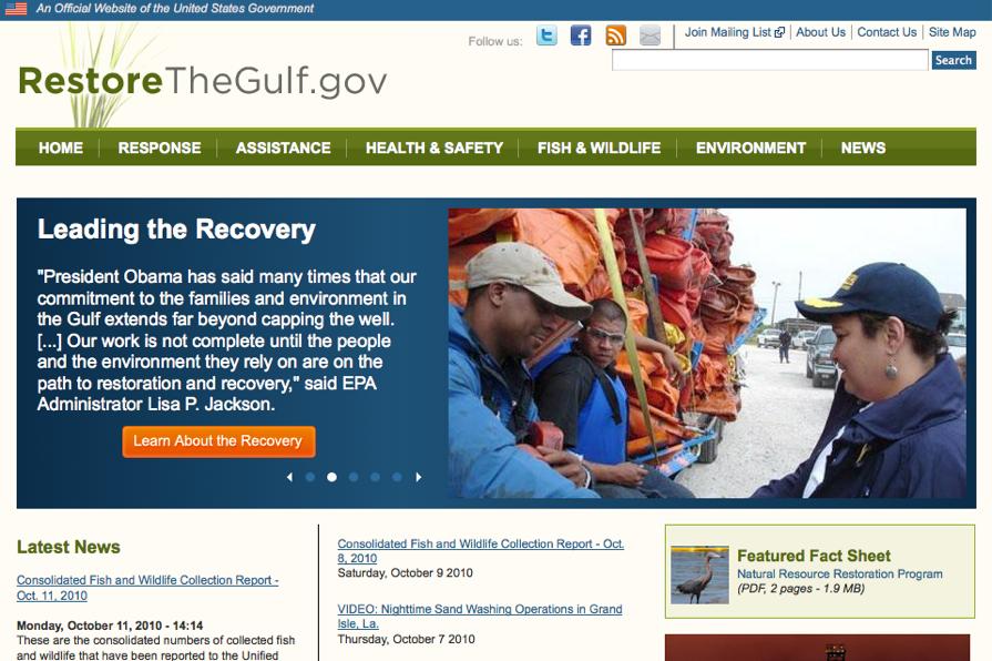 Restore the gulf gov