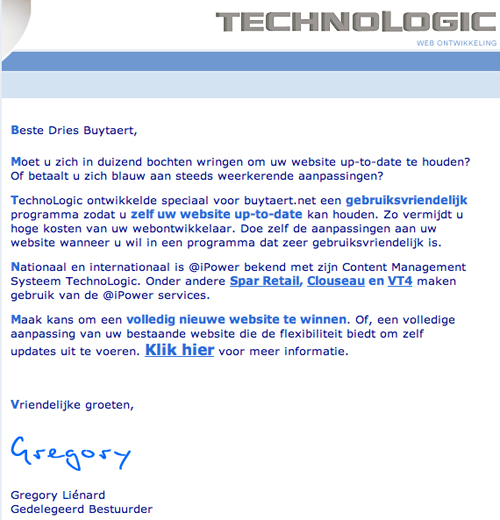Technologic be spam